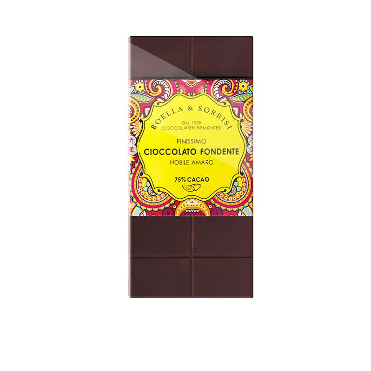 Cioccolato fondente con fior di sale 100g