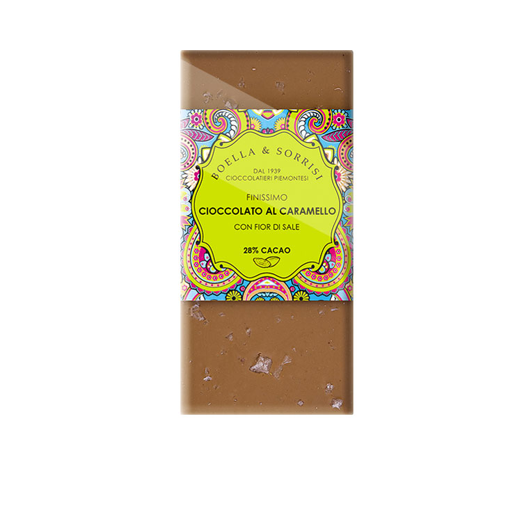 Cioccolato al caramello con fior di sale 100g